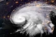 تصویر ماهوارهای از طوفان سهمگین در آمریکا