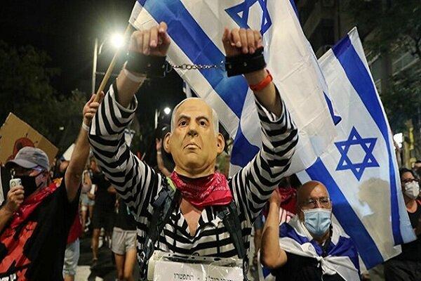 تظاهرات ضد نتانیاهو با وجود قرنطینه سراسری در قدس اشغالی برگزار شد