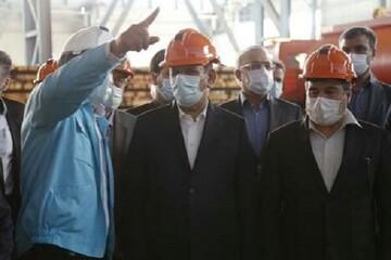 مرحله دوم فولادسازی شرکت فولاد کاوه جنوب کیش به بهرهبرداری رسید