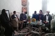 حضور مسئولان واحد تهران شرق در منزل شهید قدیر سرلک