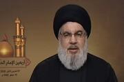 پیام تسلیت «نصرالله» به رهبر معظم انقلاب در پی شهادت سردار حجازی
