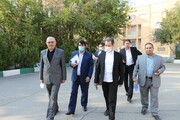 بازدید معاون علوم و مهندسی دانشگاه آزاد اسلامی از روند مصاحبه دکتری