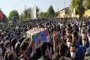 شهید «مدافع حرمِ» دانشگاه آزاد در اندیمشک تشییع شد
