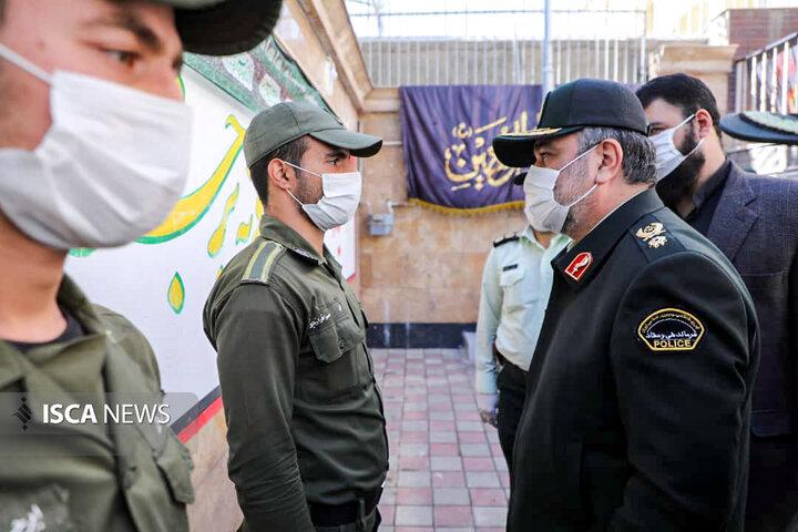 بازدید سردار سرتیپ حسین اشتری فرمانده کل نیروی انتظامی  از کلانتری 11 شهر همدان