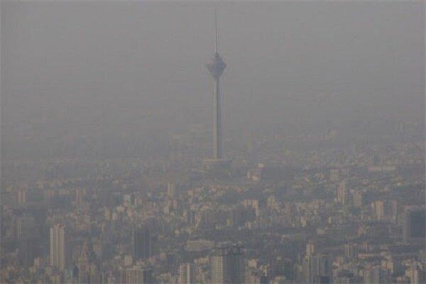 کاهش کیفیت هوای پایتخت طی امروز