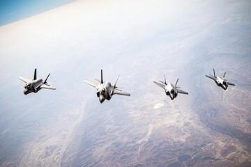 تمرین مشترک جنگندههای پنهانکار آمریکا و رژیم صهیونیستی