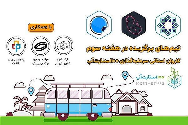 انتخاب 3 طرح دانشگاه آزاد اسلامی قزوین در رویداد «کاروان سرمایهگذاری استارتاپی»
