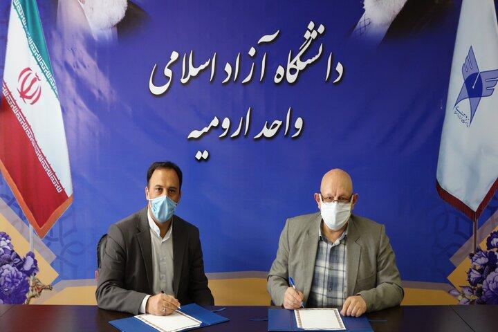 امضای تفاهمنامه دانشگاه آزاد آذربایجان غربی با دبیرخانه بینش مطهر