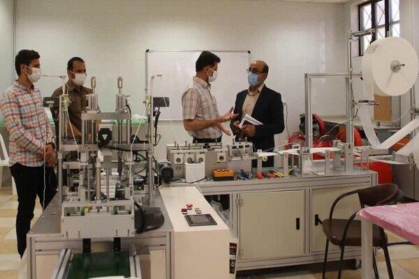 خط تولید ماسک تمام اتوماتیک در دانشگاه آزاد اسلامی شاهرود افتتاح شد