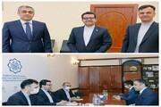 دیدار سفیر ایران در باکو با وزیر حمل و نقل