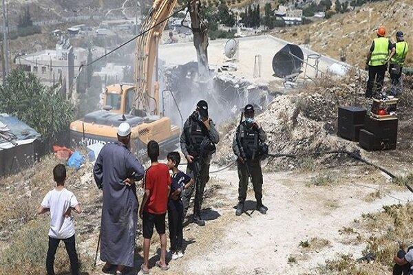 ارتش رژیم صهیونیستی ۱۱ خانه متعلق به فلسطینیان را تخریب کرد