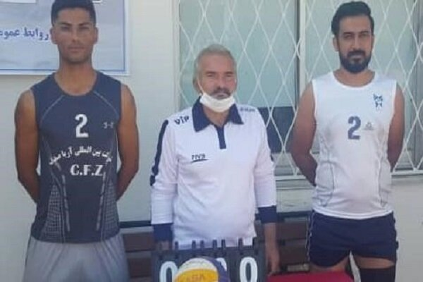 کسب مقام سومی دانشجویان سمای زاهدان در مسابقات والیبال ساحلی