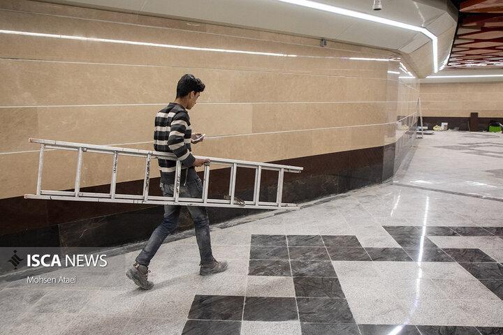 بازدید خبرنگاران از ایستگاه مترو برج میلاد