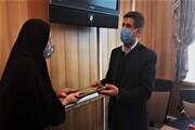 مدیر امور شاهد و ایثارگران واحد کرج به عنوان مدیر برتر کشور انتخاب شد