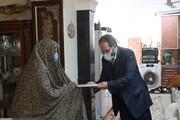 دیدار معاون فرهنگی دانشجویی دانشگاه آزاد اسلامی با خانواده شهید چکاه