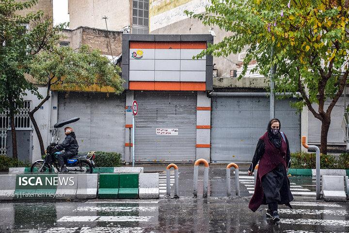 نخستین روز طرح محدودیتهای کرونایی در تهران