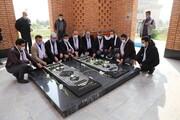 مراسم زیارت از مزار شهدای گمنام دانشگاه آزاد اسلامی تهران شرق برگزار شد