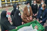 خانواده شهید فخری زاده با عزیزشان در معراج وداع کردند