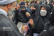 تجمع مردمی در اعتراض به ترور شهید محسن فخری زاده (1)
