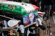 آیین خاکسپاری دانشمند شهید فخریزاده (۱)