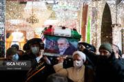 آیین خاکسپاری دانشمند شهید فخریزاده (۲)