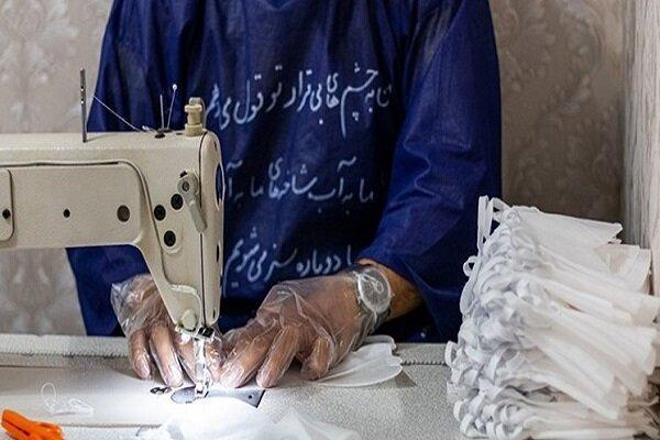 ۱۰میلیون گان پزشکی توسط مددجویان زندانهای تهران تولید میشود