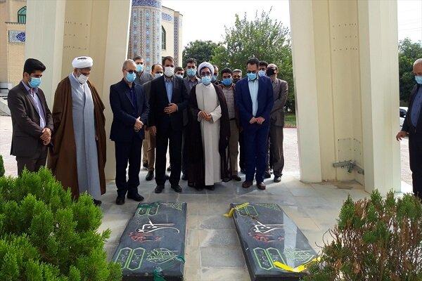 افتتاح المان شهدای گمنام دانشگاه آزاد اسلامی واحد کازرون