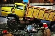 تصادف کامیون با پراید در بزرگراه امام علی(ع)/یک نفر جان باخت