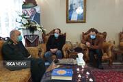 حضور فرمانده کل سپاه در منزل شهید فخریزاده