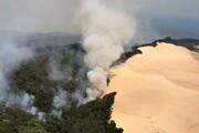 بزرگترین جزیره شنی جهان در آغوش آتش