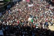 تجمع اعتراض آمیز مردم یمن علیه جنایات ائتلاف سعودی