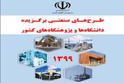 کتابچه طرحهای صنعتی برگزیده دانشگاهها و پژوهشگاههای کشور در سال ۱۳۹۹ منتشر شد