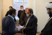 دیدار معاون فرهنگی دانشجویی دانشگاه آزاد اسلامی با خانواده شهید شهریاری