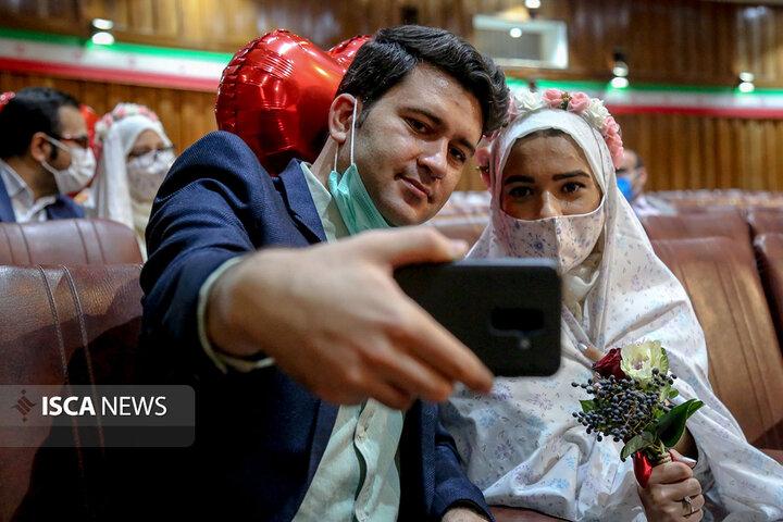 برگزاری مراسم ازدواج دانشجویی در دانشگاه امام حسین(ع) با حضور ۶۰ زوج