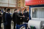 خط تولید دستمالهای خشک آنتیباکتریال افتتاح شد
