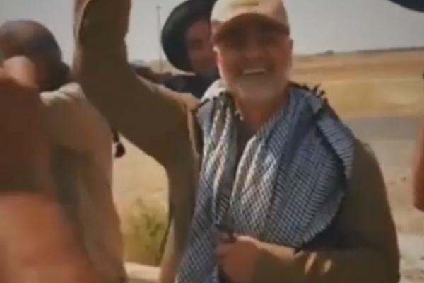 شادی حاج قاسم و ابومهدی المهندس پس از آزادسازی آمرلی