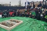 مراسم تشییع و تدفین دو شهید گمنام در واحد تهران شمال برگزار شد