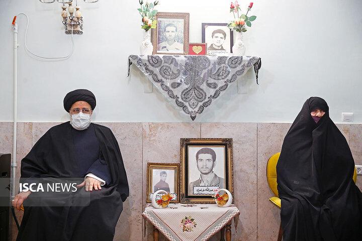 دیدار رئیس قوه قضاییه با خانواده شهیدان طاهری و فردوسیان