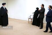 دیدار خانواده دانشمند شهید محسن فخریزاده با رهبر معظم انقلاب
