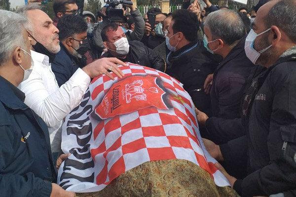 تصاویری از خاکسپاری میناوند/ «چپِ» پرسپولیس کنار «راست» آرام گرفت