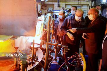 بازدید رئیس مجلس شورای اسلامی از واحدهای فعال، تعطیل و نیمه تعطیل شهرک صنعتی شمسآباد