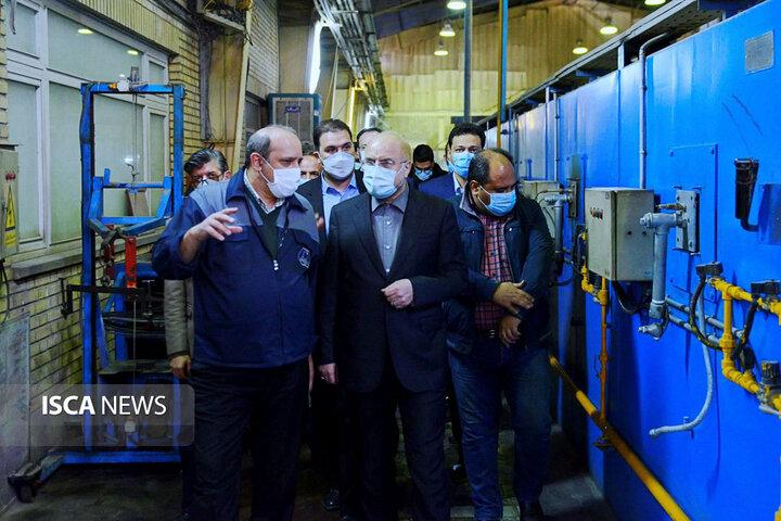 بازدید رئیس مجلس شورای اسلامی از واحدهای فعال، تعطیل و نیمه تعطیل شهرک صنعتی شمس آباد