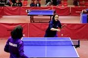 تساوی تیم تنیس روی میز بانوان دانشگاه آزاد اسلامی مقابل وچان کردستان