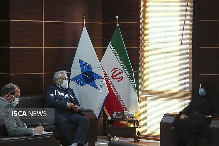 دیدار جمعی از نمایندگان مجلس شورای اسلامی با رئیس دانشگاه آزاد اسلامی