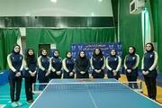 پیروزی تیم تنیس روی میز بانوان دانشگاه آزاد مقابل پادما یدک اصفهان