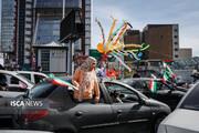 جشن خیابانی سالگرد پیروزی انقلاب اسلامی در تهران 1
