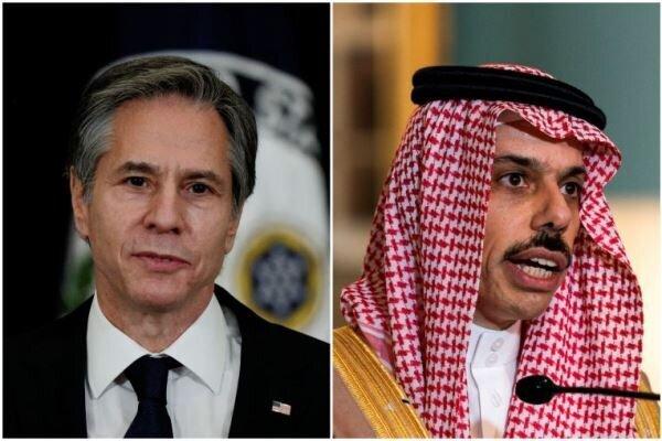 گفتگوی «بلینکن» با همتای سعودی پیرامون تقویت مواضع دفاعی عربستان
