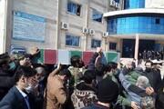 تشییع و تدفین ۲ شهید گمنام در دانشگاه آزاد اسلامی چالوس