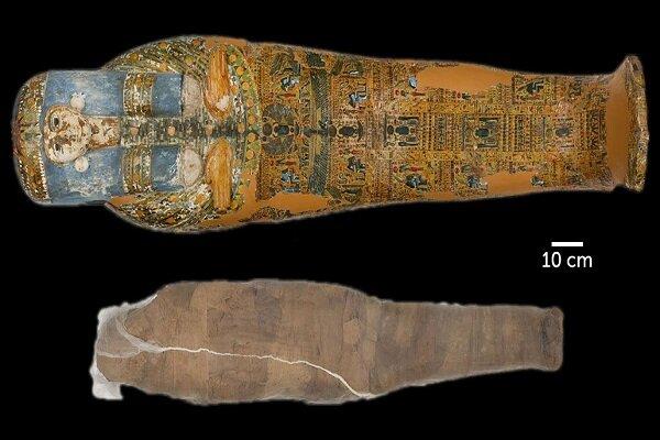 کشف یک مومیایی با پوششی غیرعادی