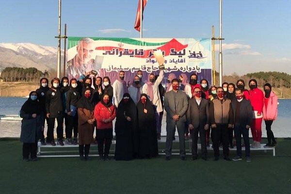 مقام دوم بانوان پاروزن دانشگاه آزاد در لیگ برتر روئینگ